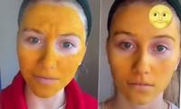 Tự làm kem trộn theo công thức trên mạng, mặt cô gái chuyển màu vàng như Pikachu