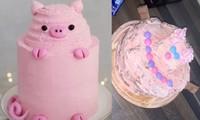 Đặt bạn làm bánh sinh nhật hình heo con, khi nhận được thì khóc thét vì… không nhận ra con gì