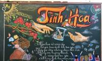 Những bài báo tường được viết bảng cực ấn tượng kỉ niệm ngày Nhà giáo Việt Nam 20/11