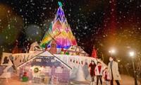 """Hà Nội: Bạn đã kịp check-in cùng """"cây măng Noel"""" đẹp như ở trời Âu chưa?"""