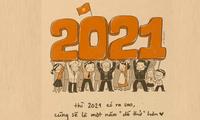Đón Tết tích cực với những thông điệp siêu đáng yêu: 2020 mình vượt qua được thì 2021 sợ gì!