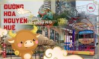 Đường hoa Nguyễn Huệ đẹp rực rỡ đón Tết Tân Sửu, đảm bảo quy tắc an toàn với du khách đến thăm