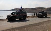 Quân đội Nga bắt đầu tuần tra ở phía bắc Syria. Ảnh: Sputnik