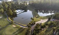 Toàn cảnh sân đấu Tiền Phong Golf Championship 2019 nhìn từ trên cao