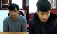 Nguyễn Chí Công (trái) và Đoàn Duy Hướng.