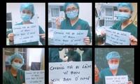Tập thể y, bác sĩ truyền tải thông điệp ý nghĩa.
