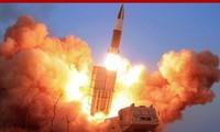 Hình ảnh về vụ phóng thử tên lửa dẫn đường ngày 21/3. Ảnh: Yonhap