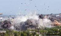 Văn phòng liên lạc liên Triều tại thành phố biên giới Kaesong bị Triều Tiên cho nổ tung vào ngày 16/6. Ảnh: Yonhap