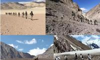 Khoảng 40 đại đội thuộc lực lượng bảo vệ biên giới (ITBP) điều động tới nhiều địa điểm dọc LAC bao gồm Ladakh và Arunachal Pradesh. Ảnh: IndiaTimes