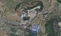 CƠ Sở hạt nhân bí mật nằm gần làng Wollo-ri, ở ngoại ô quận Mangyondae, phía tây Bình Nhưỡng. Ảnh vệ tinh