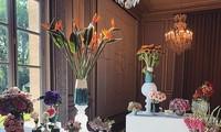 Hoa được trưng bày tại Điện Elysee hồi tháng 9/2020. Ảnh: Instagram