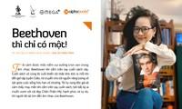 Đinh Hoài Xuân xinh đẹp trong vai trò đại sứ cho… sách về Beethoven
