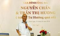 Ông Nguyễn Chấn tại cuộc họp báo.