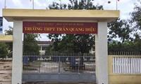 Trường THPT Trần Quang Diệu, nơi xảy ra sự việc