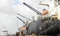 Hoạt động tại Cảng Quy Nhơn. Ảnh: Tr.Định