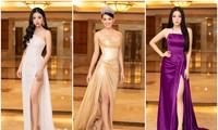 Đồng loạt diện váy xẻ cao, dàn hậu đình đám khoe chân dài tại họp báo Hoa Hậu Việt Nam
