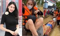 Những hình ảnh đẹp của Thủy Tiên khi đi cứu trợ đồng bào lũ lụt