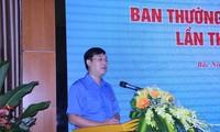 Bí thư thứ nhất T.Ư Đoàn Lê Quốc Phong phát biểu tại hội nghị.
