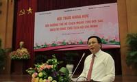 Ông Nguyễn Xuân Thắng, Bí thư T.Ư Đảng, Giám đốc Học viện Chính trị Quốc gia Hồ Chí Minh phát biểu tại hội nghị. Ảnh: Trường Phong