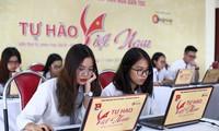 """Các thí sinh tham gia cuộc thi """"Tự hào Việt Nam"""""""