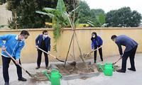T.Ư Đoàn, Thành Đoàn Hà Nội và các đơn vị liên quan tham gia trồng cây hưởng ứng Tháng Thanh niên năm 2021 và Tết trồng cây xuân Tân Sửu.