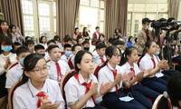 Thiếu nhi Thủ đô Hà Nội tại Hội nghị tổng kết mô hình Hội đồng trẻ em TP Hà Nội, giai đoạn 2017 - 2020.