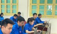 cán bộ, đoàn viên cơ quan Thành Đoàn Hà Nội tham gia thi ngay sau lễ phát động
