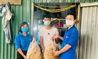 Bữa cơm nghĩa tình trao tay bệnh nhân, người lao động khi Hà Nội giãn cách