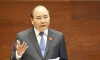 Trong khoảng 45 phút, Thủ tướng Chính phủ Nguyễn Xuân Phúc sẽ phát biểu làm rõ thêm một số vấn đề liên quan thuộc trách nhiệm của Chính phủ