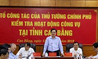 Bộ trưởng Nội vụ Lê Vĩnh Tân phát biểu tại buổi làm việc. Ảnh Thanh Tuấn