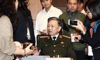 Đại tướng Tô Lâm trả lời báo chí chiều 29/10. Ảnh PV