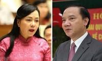Bộ trưởng Y tế Nguyễn Thị Kim Tiến và Chủ nhiệm Uỷ ban Pháp luật Nguyễn Khắc Định