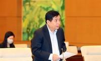 Bộ trưởng KH&ĐT Nguyễn Chí Dũng phát biểu tại phiên họp. Ảnh TTXVN