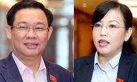 Miễn nhiệm bà Nguyễn Thanh Hải, ông Vương Đình Huệ do chuyển công tác khác