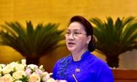 Chủ tịch Quốc hội Nguyễn Thị Kim Ngân phát biểu bế mạc kỳ họp - Ảnh Nhật Minh