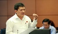 ĐBQH Phạm Phú Quốc khi phát biểu tại phiên họp tổ, đoàn TPHCM