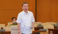 Bộ trưởng Bộ Công an Tô Lâm. Ảnh QH