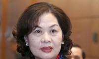 Bà Nguyễn Thị Hồng được giới thiệu làm Thống đốc NHNN Việt Nam. Ảnh Như Ý