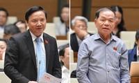 Đại biểu Nguyễn Khắc Định và Lê Thanh Vân