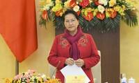 Chủ tịch Quốc hội, Chủ tịch Hội đồng bầu cử Quốc gia Nguyễn Thị Kim Ngân. Ảnh QH
