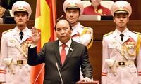 Thủ tướng Chính phủ Nguyễn Xuân Phúc tuyên thệ trước Quốc hội vào tháng 4/2016.