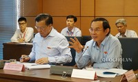 Ông Nguyễn Văn Nên trong lần phát biểu tại phiên họp tổ ở Quốc hội
