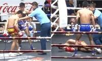 Nôn trên sàn, võ sĩ Muay Thái bị nghi trúng độc