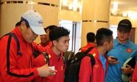 Hình ảnh tuyển Việt Nam có mặt tại Dubai, chuẩn bị đấu Jordan