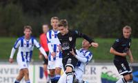 Văn Hậu thể hiện khá tốt ở đội trẻ Jong Heerenveen.
