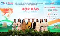 Bên cạnh các cầu thủ HAGL, giới runner có thể giao lưu với Hoa hậu, người đẹp tại Tiền Phong Marathon 2021. Ảnh: Như Ý