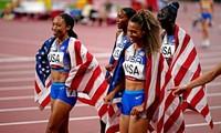 Dàn sao điền kinh giúp Mỹ thống trị đường chạy tiếp sức 4x400m nữ Olympic