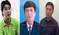 Một số bị can vừa bị bắt tạm giam trong đường dây đánh bạc.