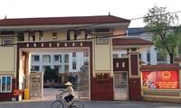 Trụ sở UBND huyện Vĩnh Tường nơi công an lập biên bản các đối tượng nhận hối lộ. Ảnh: Minh Đức