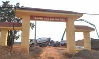 Dự án xây dựng trường học trên địa bàn huyện Vĩnh Tường. Ảnh: Đ.H